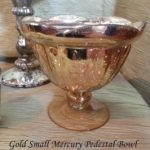 Gold Small Mercury Pedestal Bowl