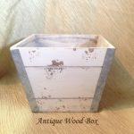 Antique Wood Box plants centerpiece