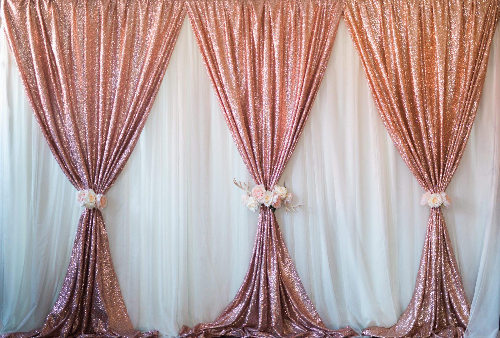 The backdrop draping