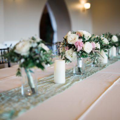 Bridesmaid Bouquet Centerpiece Castle