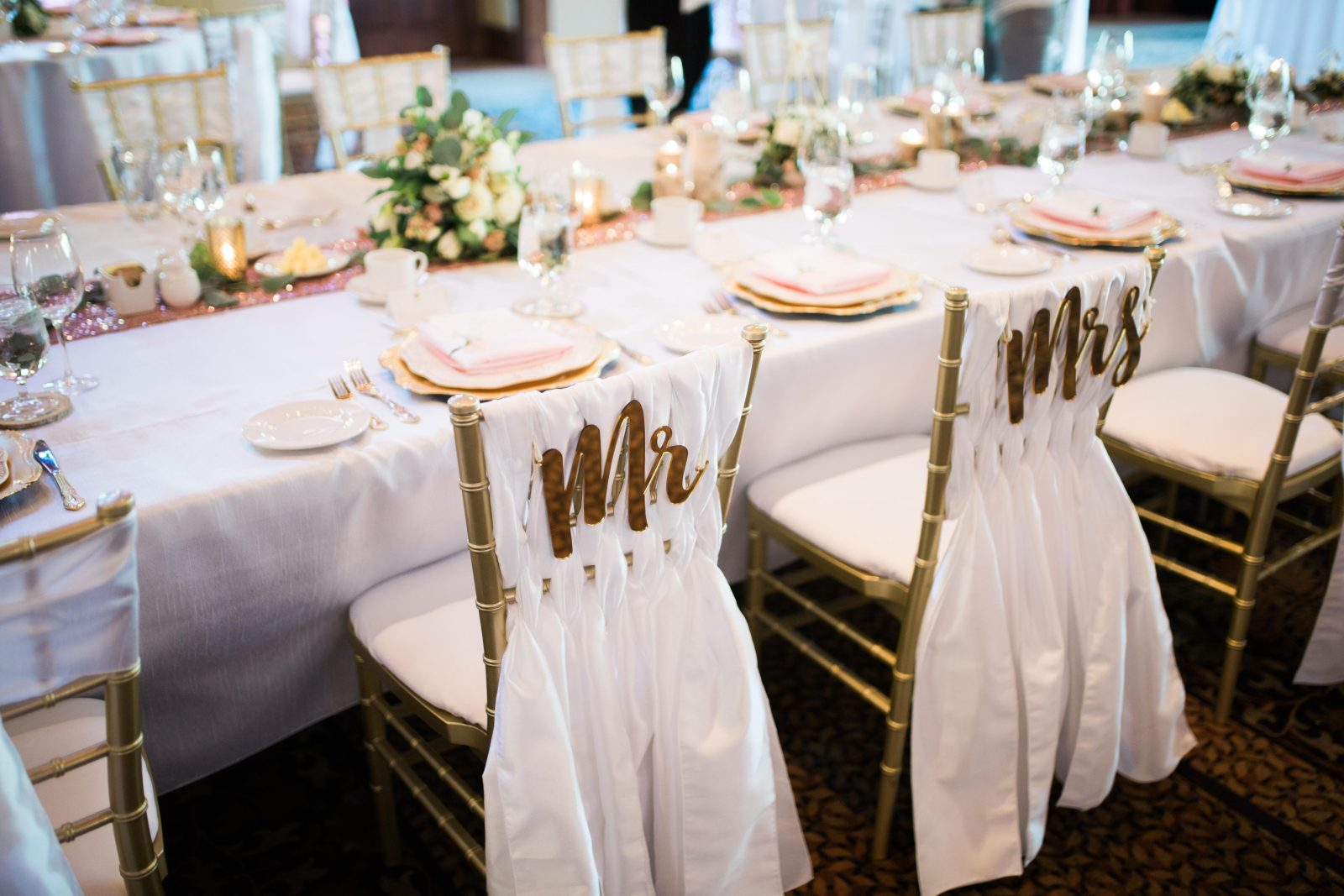 The Bride and Groom Chairs