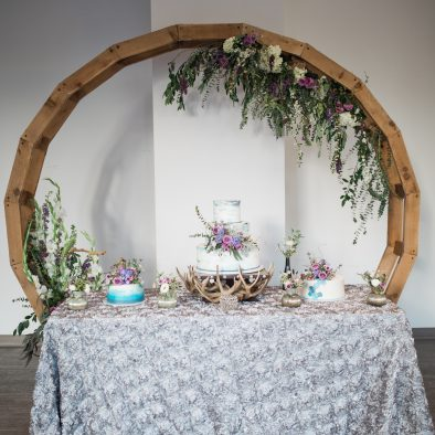 Cake Table Circle Arch