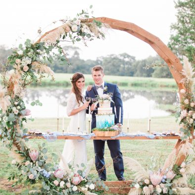 Cake Table Circle Arch Unique